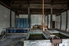Jiaxing Wuzhen East Gate Hongyuan Thai Dyeing. 'Hongyuan Thai' Dye Fang, founded in the Song and Yuan Dynasties. In fact, there is a story, according to legend Stock Photography