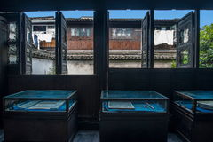 Jiaxing Wuzhen East Gate Hongyuan Thai Dyeing. 'Hongyuan Thai' Dye Fang, founded in the Song and Yuan Dynasties. In fact, there is a story, according to legend Royalty Free Stock Photography