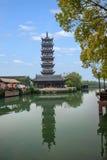 Jiaxing Wuzhen Xiba Bailian torn royaltyfria bilder