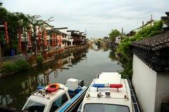 Jiaxing, Xitang miasteczko, Zhejiang prowincja, Chiny zdjęcie royalty free