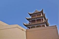 Jiayu Pass. Ancient Chinese military facilities Stock Photo
