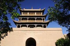 Jiayu Pass. Ancient Chinese military facilities Stock Photos