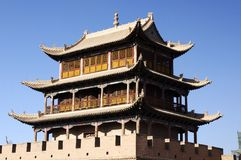 Jiayu Pass. Ancient Chinese military facilities Royalty Free Stock Image
