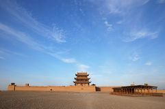 Jiayu Pass castle. The agnificent Jiayu Pass castle,in Gansu province in China Royalty Free Stock Photos