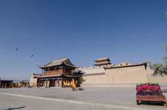 Jiayu Pass castle. The agnificent Jiayu Pass castle,in Gansu province in China Stock Photos
