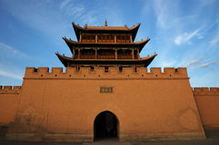 Jiayu Pass castle (Close shot). The agnificent Jiayu Pass castle,in Gansu province in China Royalty Free Stock Photos