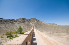 Jiayuguan ancient Great Wall Royalty Free Stock Photography