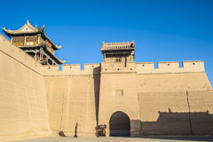 Jiayuguan castle, Gansu of China Royalty Free Stock Image