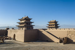 Jiayuguan castle Stock Photography