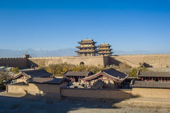 Jiayuguan castle Royalty Free Stock Photo