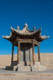 JIAYUGUAN, CHINA - Apr 13 2015: Monument of Jiayuguan Pass, west stock photography