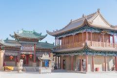 JIAYUGUAN, CHINE - 13 avril 2015 : Passage de Jiayuguan, West End de Grea Images stock