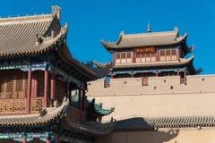 JIAYUGUAN CHINY, Apr, - 13 2015: Jiayuguan przepustka, zachodni koniec Grea obrazy stock