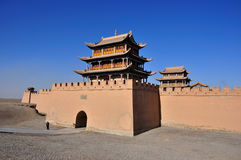 Jiayuguan city Stock Image
