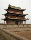 Jiayuguan city Royalty Free Stock Image