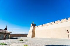 Jiayuguan dans la province de Gansu de la Chine photographie stock