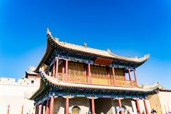 Jiayuguan dans la province de Gansu de la Chine images libres de droits