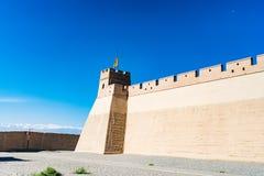 Jiayuguan dans la province de Gansu de la Chine photos libres de droits