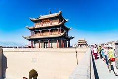 Jiayuguan dans la province de Gansu de la Chine photo stock