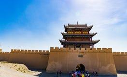 Jiayuguan dans la province de Gansu de la Chine photographie stock libre de droits
