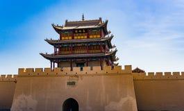 Jiayuguan en la provincia de Gansu de China Fotografía de archivo libre de regalías