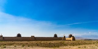 Jiayuguan en la provincia de Gansu de China Imagen de archivo