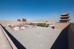 Jiayuguan-Festung Stockfoto