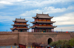 Jiayuguan Fortress in China. Jiayuguan Fortress was considered to be the last outpost of Chinese civilization.The Ming dynasty  built the Jiayuguan outpost in Stock Photo