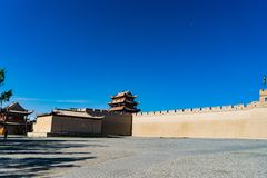 Jiayuguan in Gansu-provincie van China Royalty-vrije Stock Afbeelding