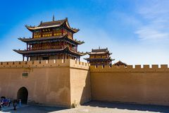 Jiayuguan in Gansu-provincie van China Stock Afbeeldingen
