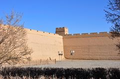 Jiayuguan greatwall Royalty Free Stock Image