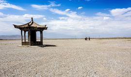 Jiayuguan Pass. Jiayuguan is home to Jiayuguan Pass, the largest and most intact pass, or entrance, of the Great Wall. Jiayuguan Pass was built in the early Ming Royalty Free Stock Image