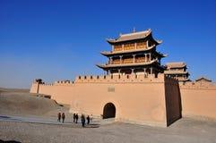 Jiayuguan: l'estremità di greatwall Fotografia Stock