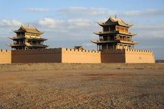 JiaYuGuan miasto Zdjęcie Stock