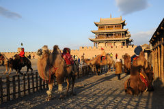 JiaYuGuan miasto Obraz Royalty Free