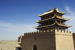 Jiayuguan Pass Tower stock images
