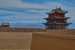 Jiayuguan`s fort temple, China stock image