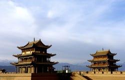 Jiayuguan stad Arkivfoton