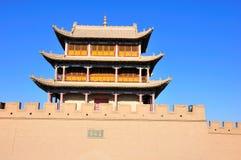 Jiayuguan tower Stock Photo