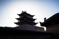 Jiayuguan tower Stock Images