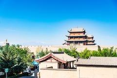 Jiayuguan w Gansu prowinci Chiny Obrazy Royalty Free