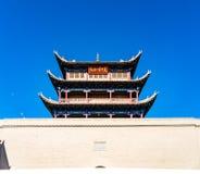 Jiayuguan w Gansu prowinci Chiny Zdjęcia Stock