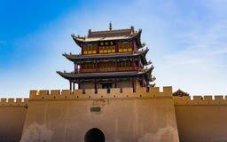 Jiayuguan w Gansu prowinci Chiny Zdjęcie Stock
