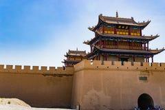 Jiayuguan w Gansu prowinci Chiny Fotografia Stock