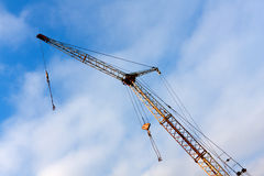 Jib on blue sky background Stock Images