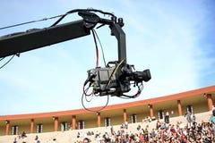 JIB crane camera. Jimmy JIB camera recording live during the event Royalty Free Stock Photography