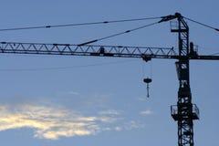 Free Jib Crane Silhouette Stock Images - 12524354