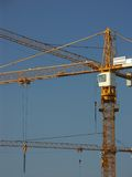 Jib cranes. Group of Jib cranes at work stock photos