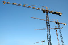 Jib cranes Stock Photo