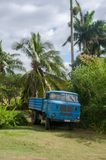 Old Blue truck parked in Rural area of Cuba Stock Images
